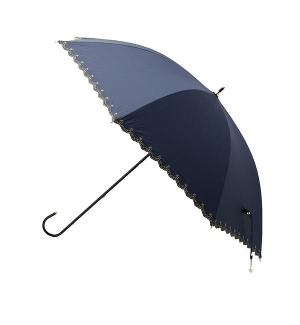 【グローブ/grove】 【WEB限定】UV・晴雨兼用 星柄スカラップ長傘 [3000円(税込)以上で送料無料]