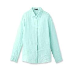 【インディヴィ/INDIVI】 ライトリネンストライプシャツ [送料無料]