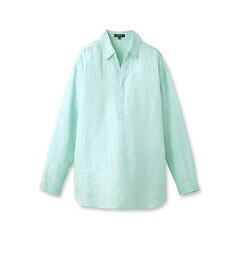【インディヴィ/INDIVI】 [L]ライトリネンストライプシャツ [送料無料]