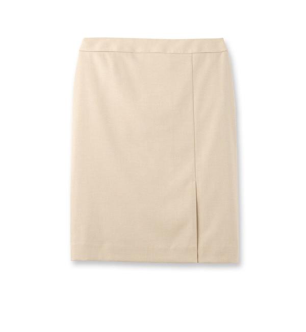 【インディヴィ/INDIVI】 異素材パイピングスカート [送料無料]