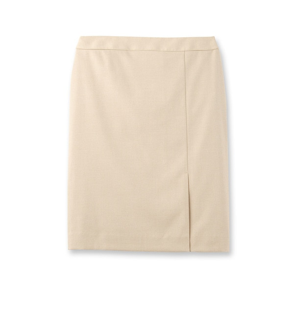 【インディヴィ/INDIVI】 [L]異素材パイピングスカート [送料無料]