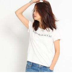 【インディヴィ/INDIVI】 [S]ロゴ入りコットンTシャツ [送料無料]