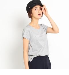 【インディヴィ/INDIVI】 [L]ロゴ入りコットンTシャツ [送料無料]