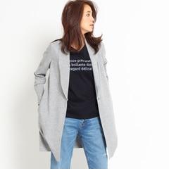 【インディヴィ/INDIVI】【VERY4月号掲載】へちまカラーロングカットジャケット[送料無料]