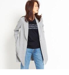 【インディヴィ/INDIVI】【VERY4月号掲載】[S]へちまカラーロングカットジャケット[送料無料]