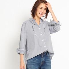 【インディヴィ/INDIVI】 【VERY4月号掲載】[L]ストライプコットンシャツ [送料無料]
