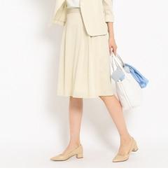 【インディヴィ/INDIVI】 ライトウェイトフレアスカート [送料無料]