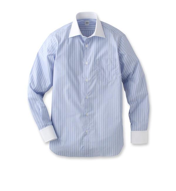 【タケオキクチ/TAKEO KIKUCHI】 ハケメストライプワイドカラークレリックシャツ [送料無料]