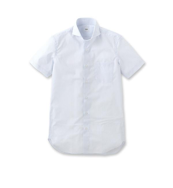【タケオキクチ/TAKEO KIKUCHI】 ストライプホリゾンタルカラーシャツ [送料無料]