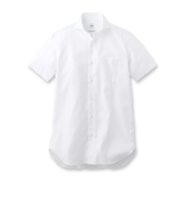 【タケオキクチ/TAKEO KIKUCHI】 ヘリンボン ホリゾンタルカラーシャツ [送料無料]