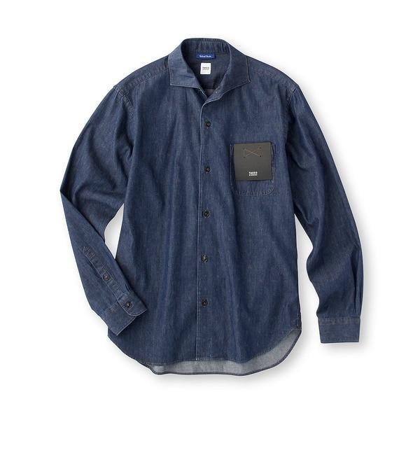 【タケオキクチ/TAKEO KIKUCHI】 フラワープリントデニム オープンカラーシャツ [送料無料]