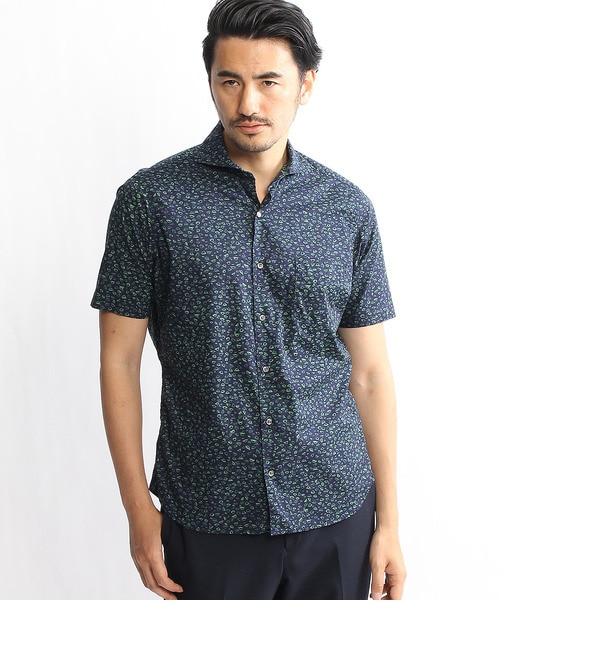 【タケオキクチ/TAKEO KIKUCHI】 幾何学柄七分袖シャツ [送料無料]