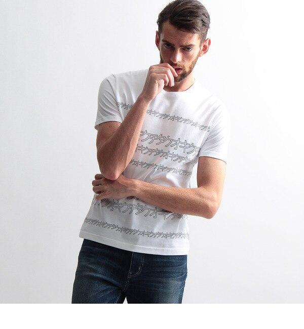 【タケオキクチ/TAKEO KIKUCHI】 タケオキクチロゴ タイポグラフィTシャツ [送料無料]