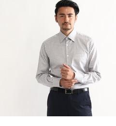 【タケオキクチ/TAKEO KIKUCHI】 【J∞QUALITY】シャークスキンチェック レギュラーカラーシャツ [送料無料]