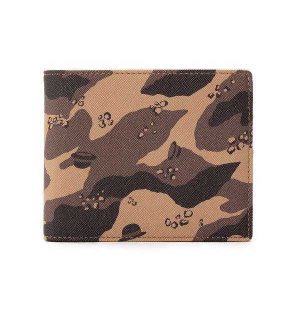 【タケオキクチ/TAKEO KIKUCHI】 ボーラーカモフラPVC二つ折り財布 [送料無料]