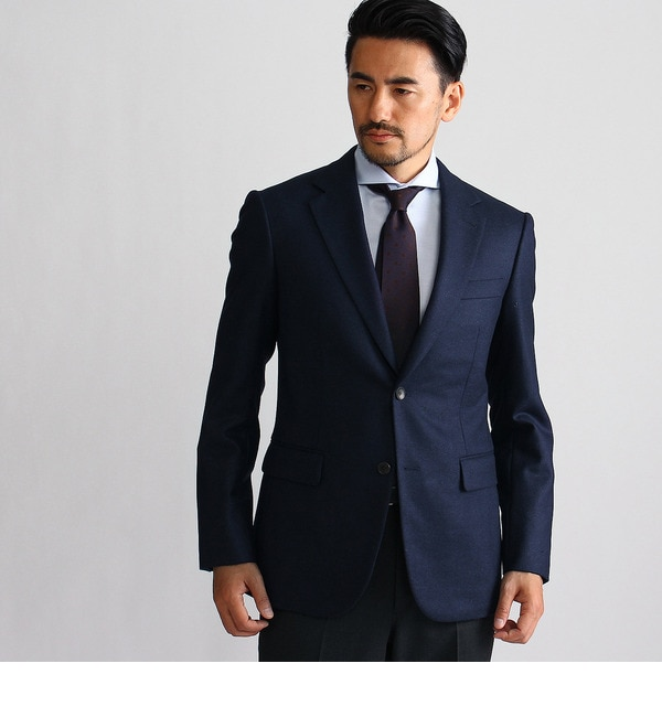 【タケオキクチ/TAKEO KIKUCHI】 ウールシルクメランジ シングルジャケット [送料無料]