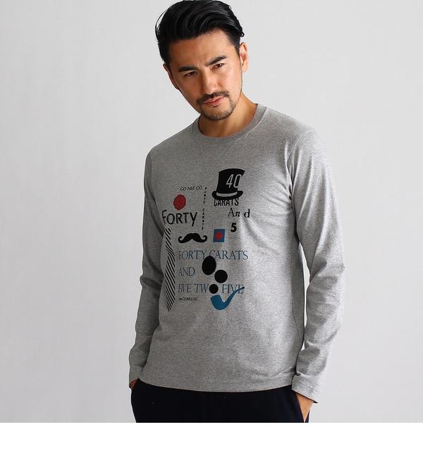 【タケオキクチ/TAKEO KIKUCHI】 グラフィック長袖Tシャツ [送料無料]