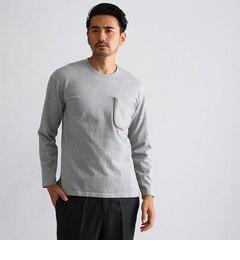 【タケオキクチ/TAKEO KIKUCHI】 ファスナーポケット 長袖プリントTシャツ [送料無料]