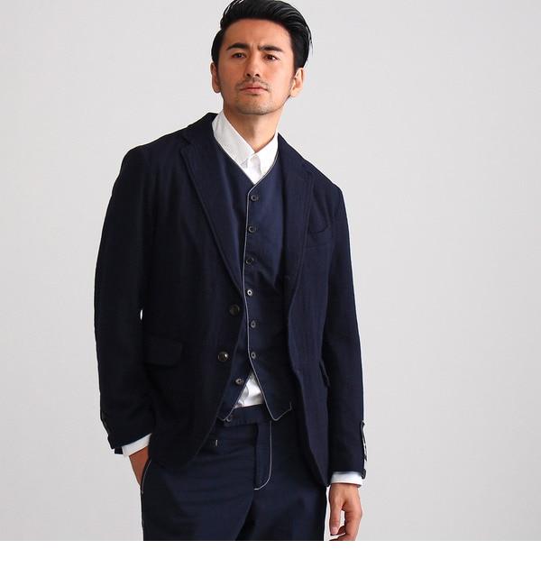 【タケオキクチ/TAKEO KIKUCHI】 コットンウールデニムテーラードジャケット [送料無料]
