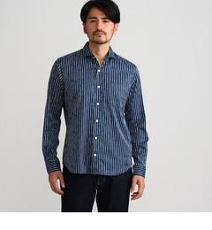 【タケオキクチ/TAKEOKIKUCHI】ジャガードストライプシャツ[送料無料]