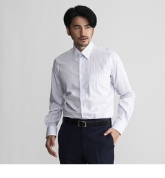 【タケオキクチ/TAKEOKIKUCHI】カラーストライプレギュラーカラーシャツ[送料無料]