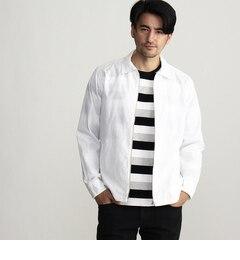 【タケオキクチ/TAKEOKIKUCHI】フロントジップシャツブルゾン[送料無料]