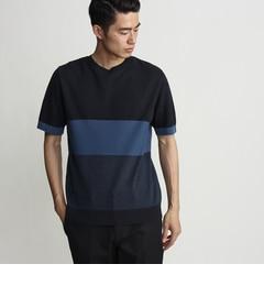 【タケオキクチ/TAKEO KIKUCHI】 【日本製】ボーダーサマーニットTシャツ [送料無料]