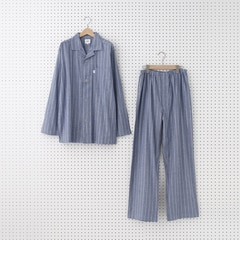 ストライプパジャマセット【タケオキクチ/TAKEO KIKUCHI メンズ ルームウェア ブルー(092) ルミネ LUMINE】