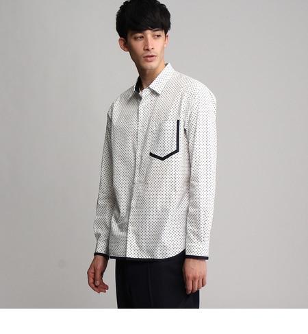 ドット&パイピングシャツ [送料無料]