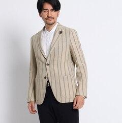 <アイルミネ> タケオキクチ厳選 砂子縞柄シングルジャケット[ メンズ ジャケット ] [送料無料]画像