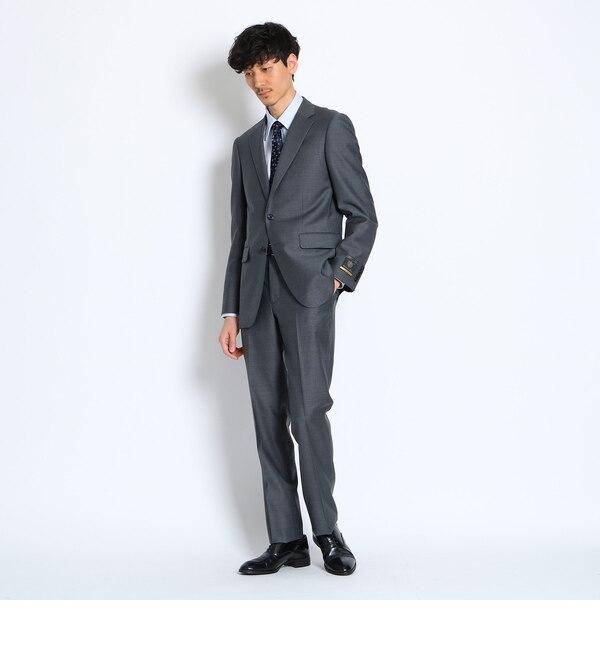 チェックドットマルゾットスーツ [ メンズ スーツ ]【タケオキクチ/TAKEO KIKUCHI メンズ スーツ グレー(013) ルミネ LUMINE】