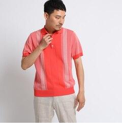 <アイルミネ>【タケオキクチ/TAKEO KIKUCHI】 カラーパターンニットポロシャツ [ メンズ ポロシャツ ]画像