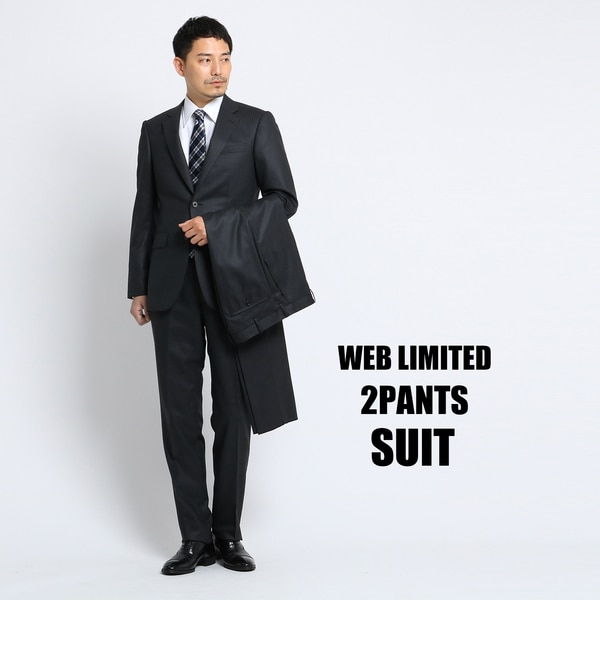 【タケオキクチ/TAKEO KIKUCHI】 【 WEB 限定 】シャドーストライプツーパンツスーツ [ メンズ スーツ ツーパンツ ]