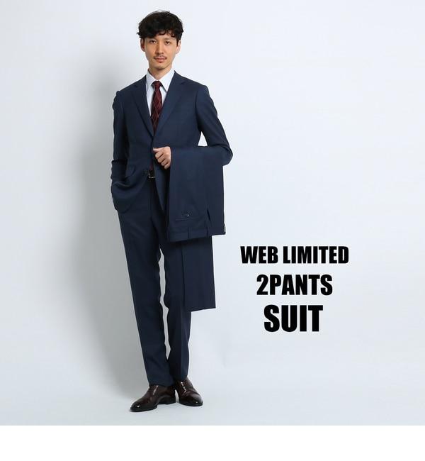 【タケオキクチ/TAKEO KIKUCHI】 【 WEB 限定 】バーズアイツーパンツスーツ [ メンズ スーツ ツーパンツ ]