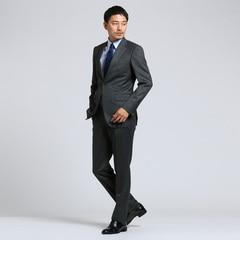 <アイルミネ> 紡縞 2Bシングルスーツ[ メンズ スーツ ]画像