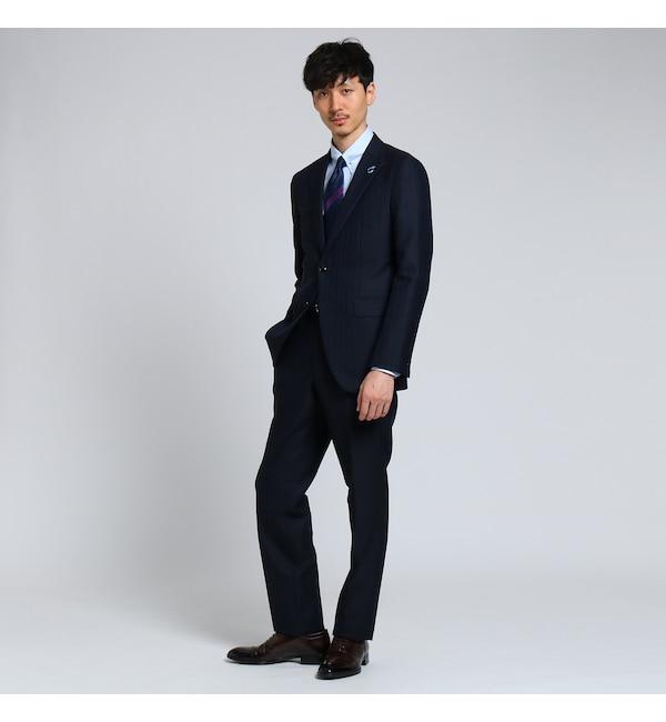 <アイルミネ>【PNJ】千本格子 2Bスーツ[ メンズ スーツ ]画像