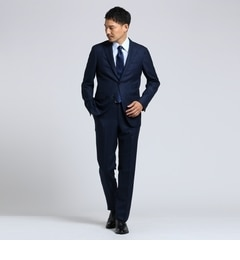 <アイルミネ> 紡ぎカラーストライプ2Bスーツ[ メンズ スーツ ストライプ ]画像