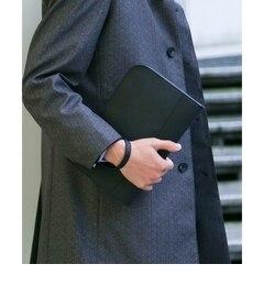 <アイルミネ>【タケオキクチ/TAKEO KIKUCHI】 【 WEB限定 】レザークラッチ [ メンズ バッグ クラッチ レザー 冠婚葬祭 結婚式 ベーシック 黒 ブラック ]画像