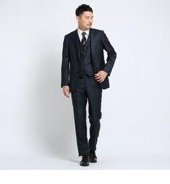<アイルミネ> シャイニーシャークピンヘッドスーツ Fabric by MIYUKI KEORI[ メンズ スーツ 撥水 結婚式 ]画像