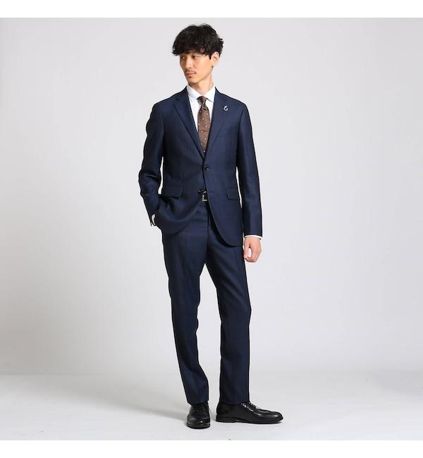 【タケオキクチ/TAKEO KIKUCHI】 ペンシルストライプ スーツ Fabric by MIYUKI Bemback(R)