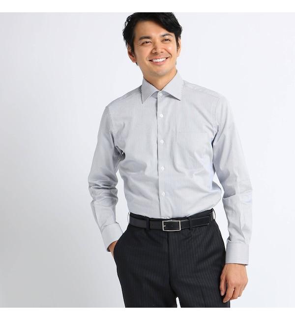 【タケオキクチ/TAKEO KIKUCHI】 ツイルロンドンストライプ ビジネスシャツ
