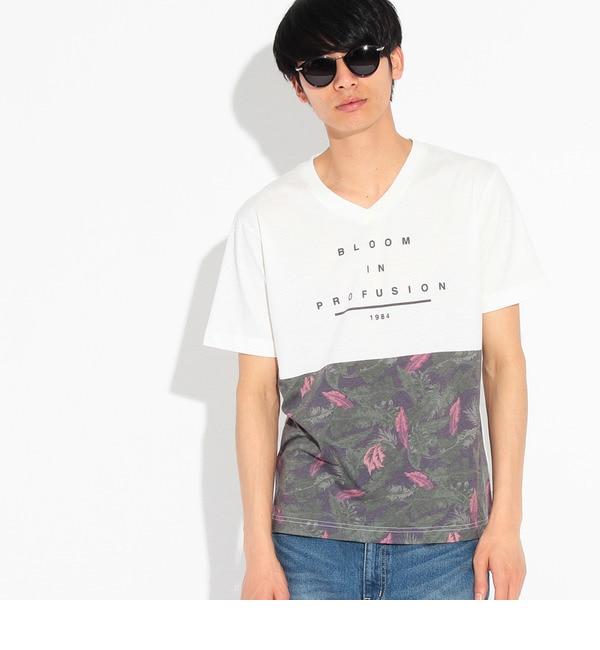 【ティーケー タケオキクチ/tk.TAKEO KIKUCHI】 ボタニカルバイカラーTシャツ [3000円(税込)以上で送料無料]