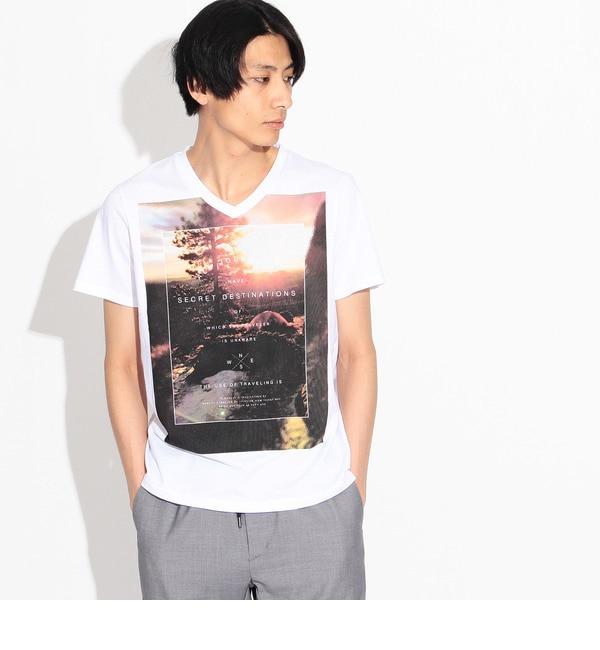 【ティーケー タケオキクチ/tk.TAKEO KIKUCHI】 スラッシュフォトTシャツ [3000円(税込)以上で送料無料]