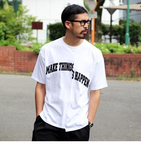 【ティーケー タケオキクチ/tk.TAKEO KIKUCHI】 アシンメトリーロゴTシャツ [3000円(税込)以上で送料無料]