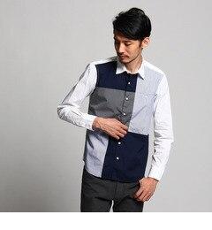 【ティーケータケオキクチ/tk.TAKEOKIKUCHI】ブロードパッチワークシャツ[送料無料]