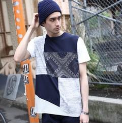 【ティーケータケオキクチ/tk.TAKEOKIKUCHI】パターンパッチワークTシャツ[送料無料]
