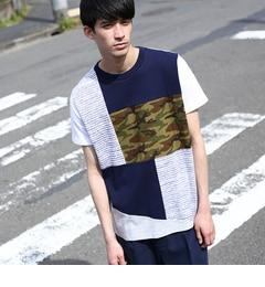 【ティーケータケオキクチ/tk.TAKEOKIKUCHI】【WEB限定】カモパッチワークTシャツ[送料無料]