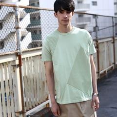 【ティーケータケオキクチ/tk.TAKEOKIKUCHI】ピグメントニットドッキングTシャツ[送料無料]