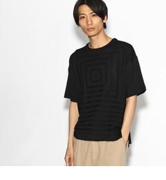【ティーケータケオキクチ/tk.TAKEOKIKUCHI】スクエアニットドッキングTシャツ[送料無料]
