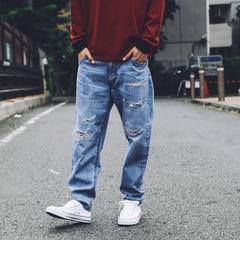 【ティーケー タケオキクチ/tk.TAKEO KIKUCHI】 Lee for tk.TAKEO KIKUCHI リメイクデニムパンツ [送料無料]